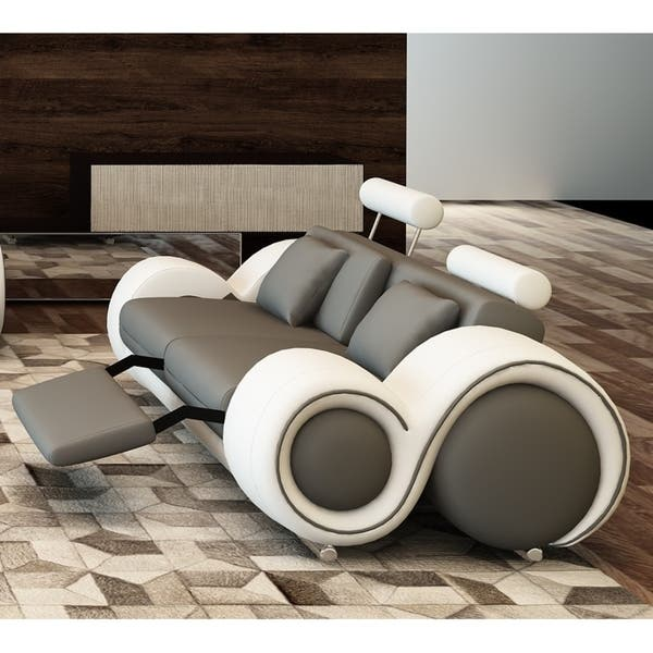 Wood Modern Reclining Loveseat