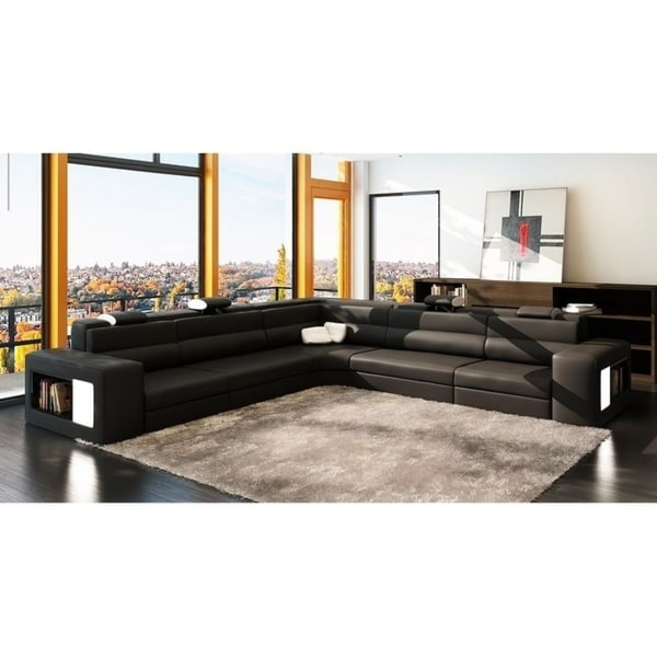 Remarkable Shop The Bellagio Bonded Leather 5 Piece Sectional Free Beutiful Home Inspiration Xortanetmahrainfo