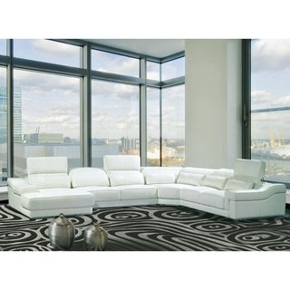 Valentino 4-piece Leather Sectional