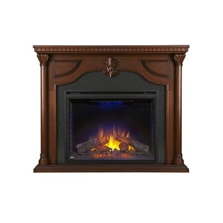 Napoleon Aden Cherry Wood Mantel with 40-inch Electric Fireplace & Remote Control