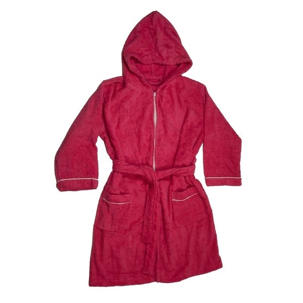 e6171019e3 Shop Girls Terry Cloth Hooded Bathrobe 100% Cotton Terry Cover up - Free  Shipping On Orders Over  45 - Overstock - 22328473
