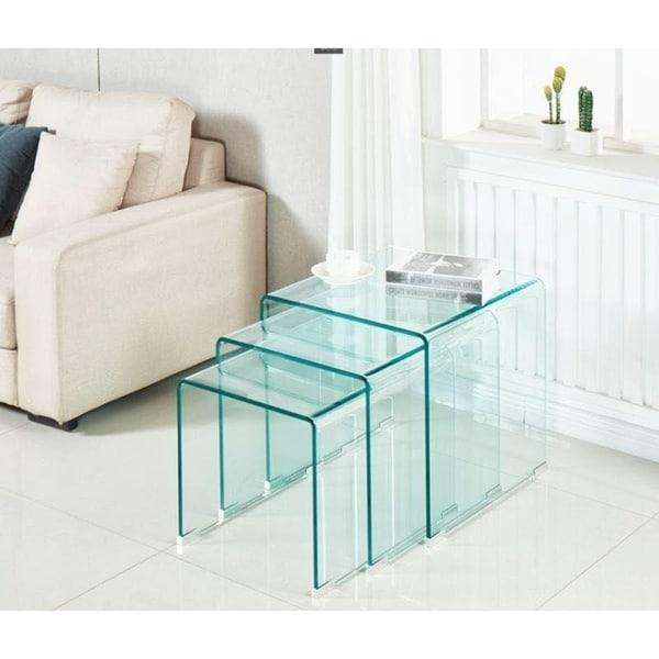 Minimax decor samson bent glass nesting tables set of 3 free minimax decor samson bent glass nesting tables set of 3 watchthetrailerfo