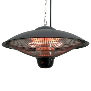 Outsunny 1500 Watt Outdoor Ceiling Mounted Electric Hanging Patio Heater Lamp with Remote