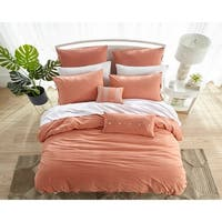 909 Washed Cotton Duvet Set in Orange