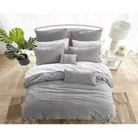909 Washed Cotton Duvet Set in Grey