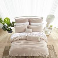 Washed Cotton Duvet Set in Ivory