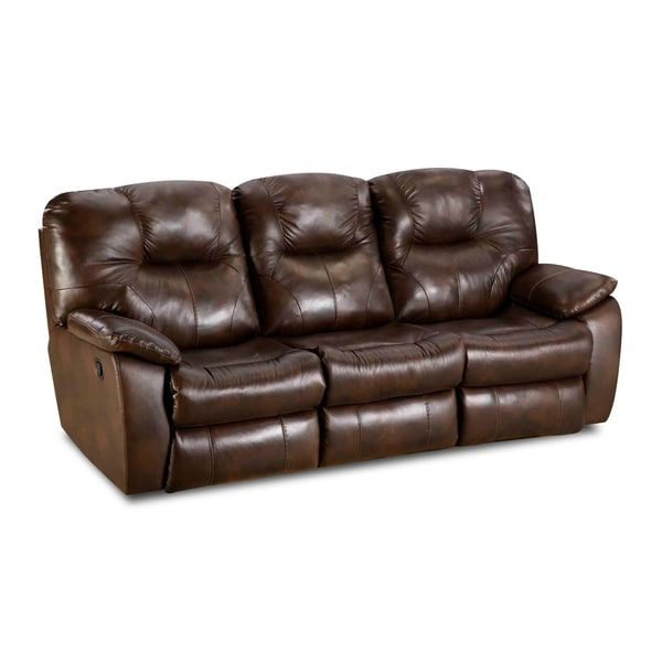 Avalon Brown Leather Double Reclining Sofa