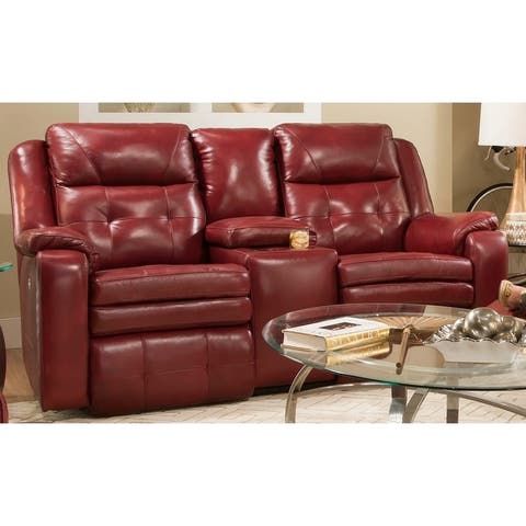 Inspire Power Headrest Loveseat with Console