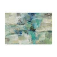 Silvia Vassileva 'In The Clouds Blue' Canvas Art - Multi-color