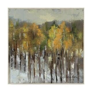 Silvia Vassileva 'January Landscape' Canvas Art - White