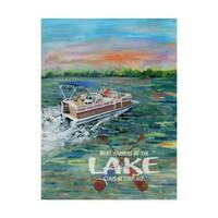 Cindy Fornataro 'What Happens At The Lake' Canvas Art - Multi-color