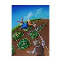 Cindy Thornton 'Peter Rabbit 5' Canvas Art - Black