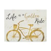 Pela Studio 'Golden Ride Iii' Canvas Art - White