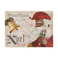 Pela Studio 'Antique Holiday Ii Santa' Canvas Art - Blue