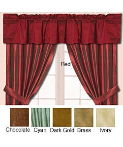 Dupioni Silk Window Curtain Pole Top Valance