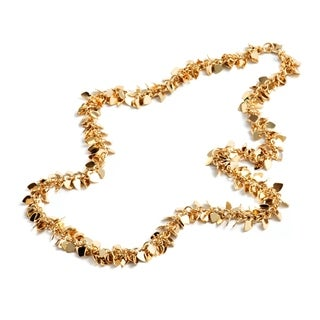 Gold Plated Gold Heart Vine Link Necklace