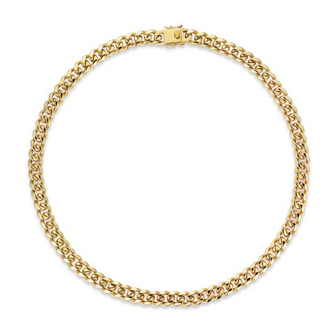 Gold Plated 24in. Curb Link Chain Necklace