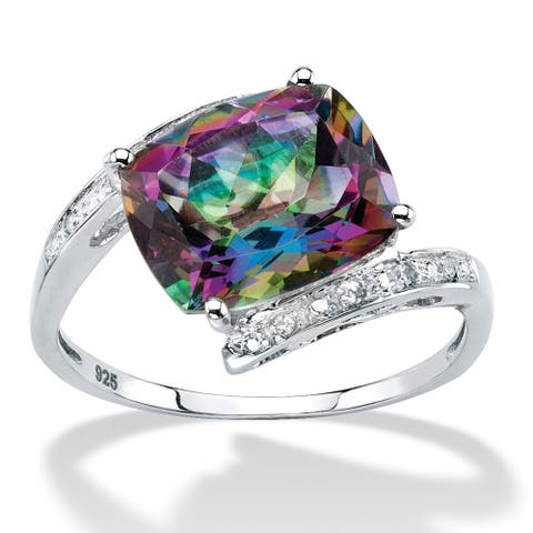 Sterling Silver Genuine Mystic Fire Topaz Ring