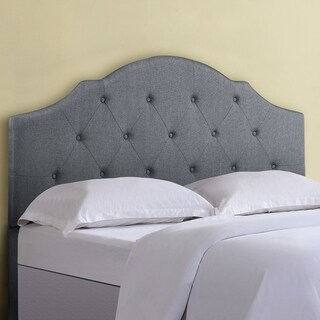 US Pride Furniture Angela Tufted Linen Upholstered Headboard