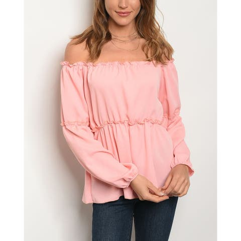 JED Women's Off Shoulder Flared Top