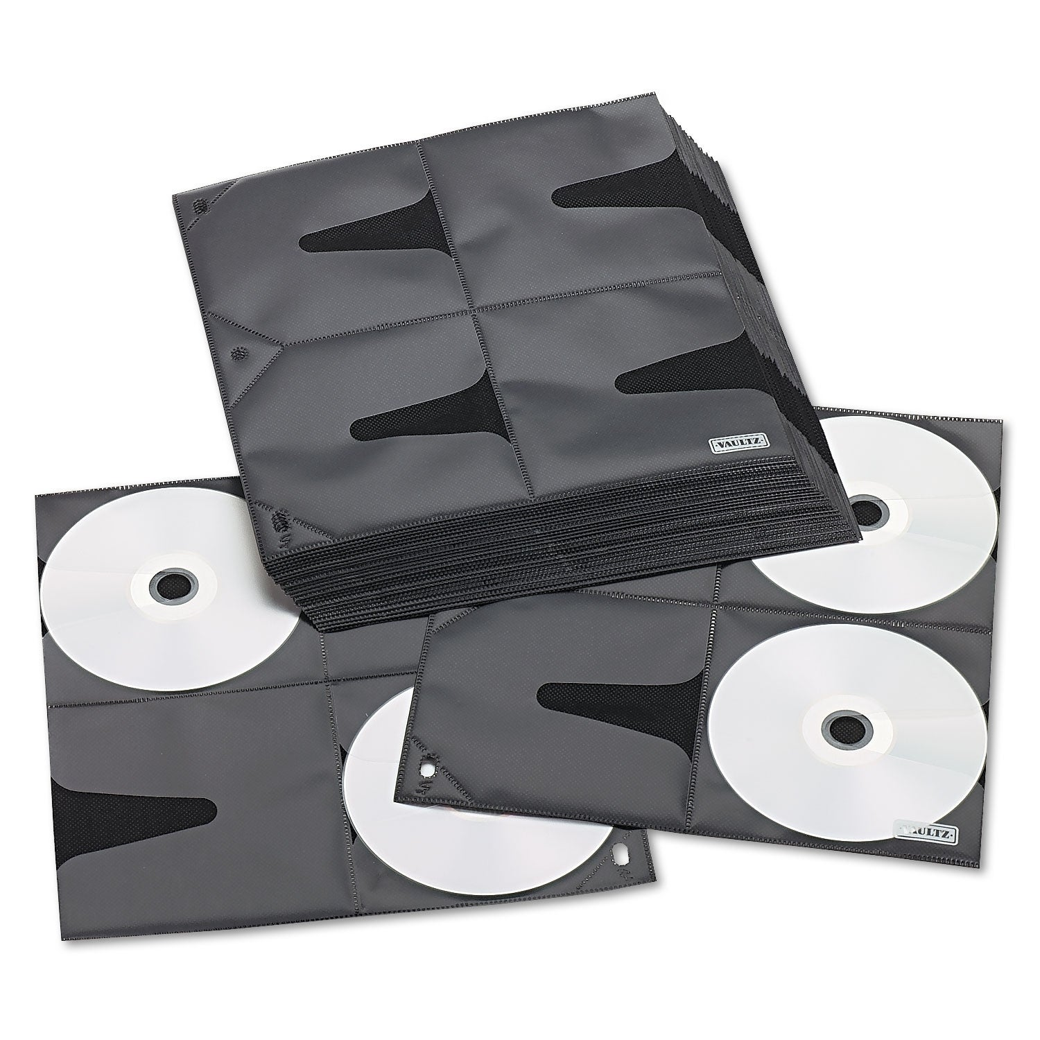 * Two-Sided CD Refill Pages for Three-Ring Binder 50//Pack