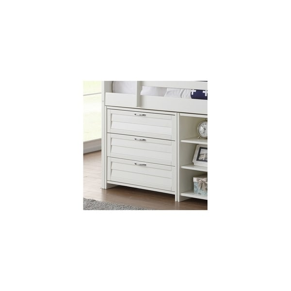 Donco Kids Louver 3 Drawer Chest in White Size - Twin