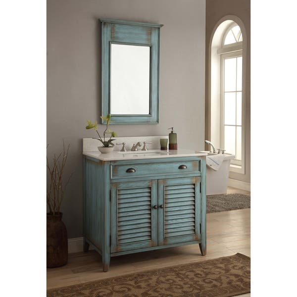 36 Benton Collection Abbeville Distressed Blue Bathroom Vanity On Sale Overstock 22333998