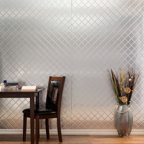 Fasade Quilted Brushed Aluminum Wall Panel (4' x 8' X.013)