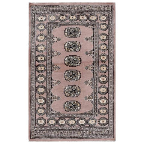 Handmade Herat Oriental Pakistani Hand-knotted Bokhara Wool Rug (2'6 x 4') - 2'6 x 4'