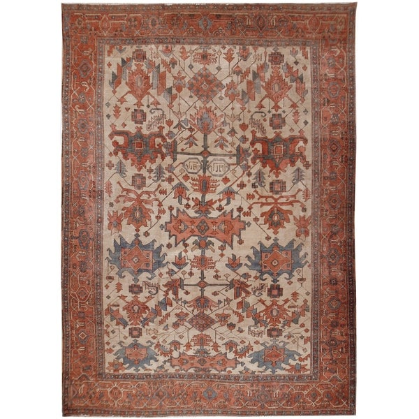 Shop Antique Serapi Rug Circa 1890 9 10 X 12 5 Free