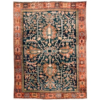 Antique Heriz  Rug, Circa 1920 - 9' x 12'