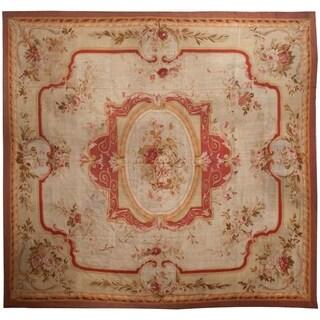 Antique Aubusson Rug, Circa 1840 - 14' x 14'7''