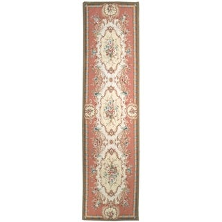 Wool Aubusson Rug - 3' x 12'2''