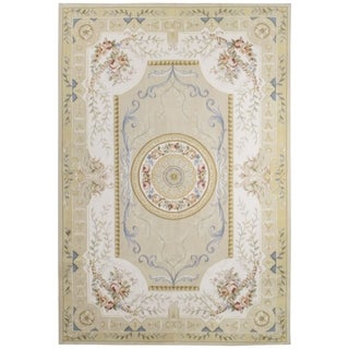Wool Aubusson Rug - 6'2'' x 9'2''
