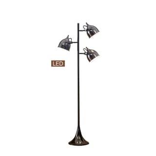 "Link to Artiva USA Caprice 64"" LED Tree Floor Lamp-Jet Black Similar Items in Floor Lamps"