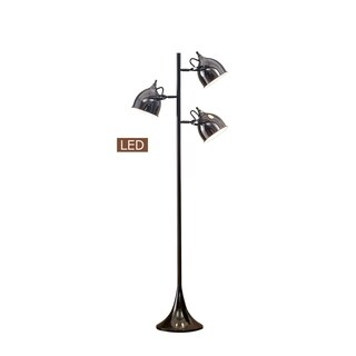 "Artiva USA Caprice 64"" LED Tree Floor Lamp-Jet Black"