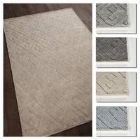 Artist's Loom Charla Collection Wool and Cotton Handmade Geometric Shag Rug (5' x 7' 6)