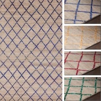 """Artist's Loom Joyce Collection Hand-Knotted Argyle Pattern  Rug - 5' x 7'6"""""""