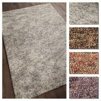 """Artist's Loom Cheyanne Collection Hand-Woven Abstract Pattern Shag Rug - 5' x 7'6"""""""