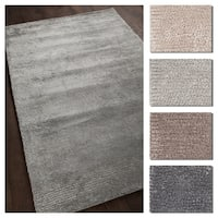 """Artist's Loom Anuja Collection Hand-Woven Solid Pattern Shag Rug - 5' x 7'6"""""""