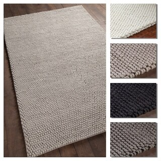 Artist's Loom Handmade Claudia Collection Solid Wool Shag Rug (5' x 7'6)