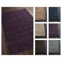 Artist's Loom Bryanna Collection Jute Handmade Solid Pattern Casual Area Rug (5' x 7'6)
