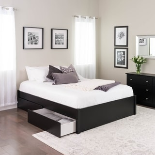 bed frame with storage full headboard prepac queen select 4post platform bed with optional drawers buy storage beds online at overstockcom our best bedroom