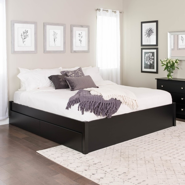 Prepac King Select 4-Post Platform Bed with Optional Drawers. Opens flyout.