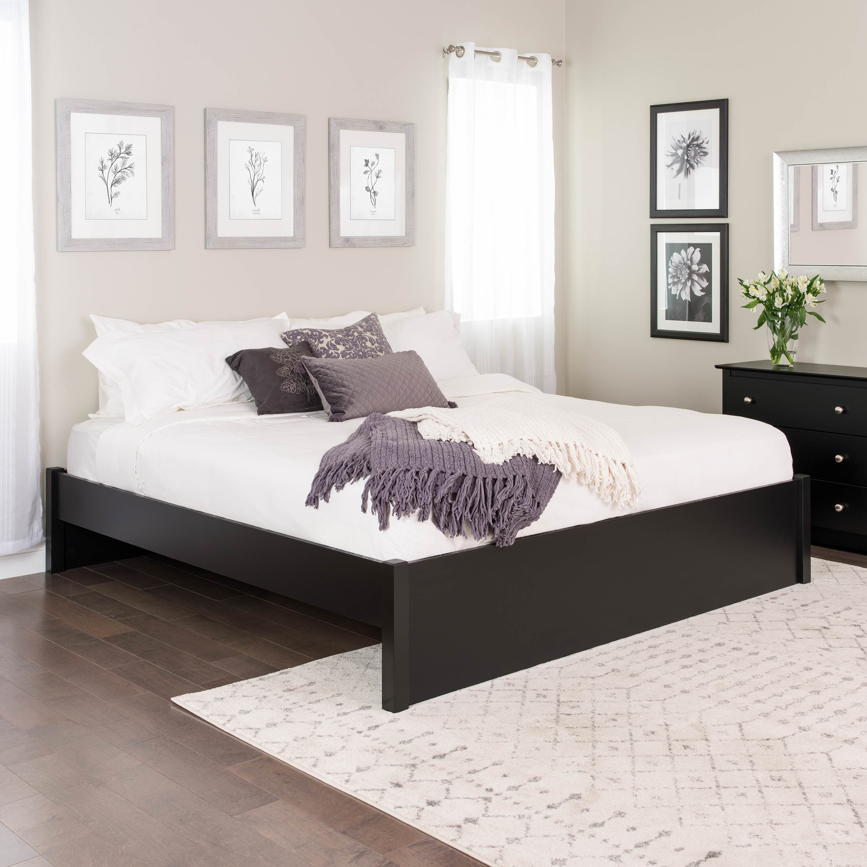 Prepac King Select 4 Post Platform Bed With Optional Drawers