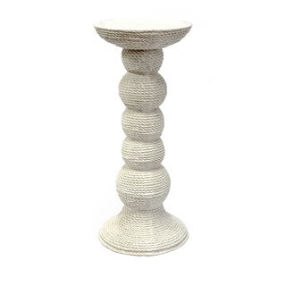 Sagebrook Home RORY CANDLESTICK, TALL, WHITE