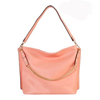 Diophy PU Leather Chain Strap Decoration Hobo Bag