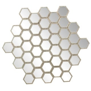 Sagebrook Home CONNOR HONEYCOMB WALL DECOR, LARGE, GOLD