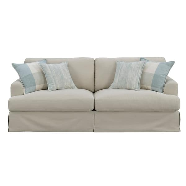 Shop Emerald Home Charlotte Natural and Bay Blue Sofa - On ...