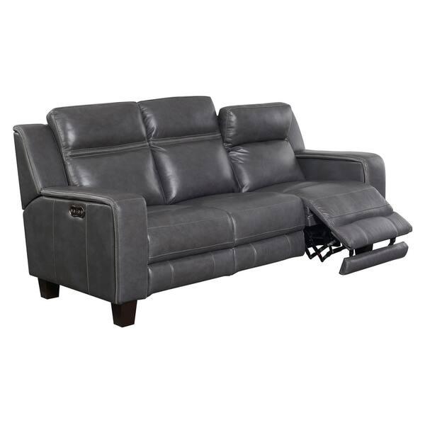 Emerald Home Beckett Contemporary Graphite Power Reclining Sofa